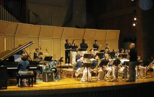 Students at the Nebraska Jazz Festival
